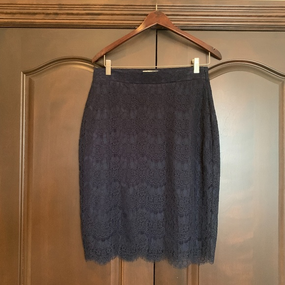 Blue Marine Lace Skirt